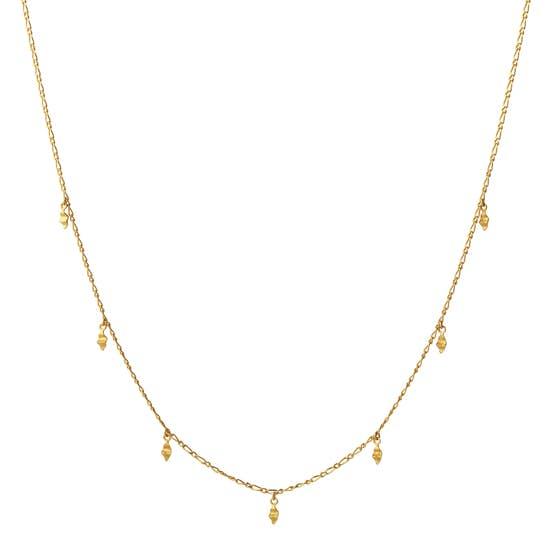 Una necklace von Maanesten in Vergoldet-Silber Sterling 925| Matt,Blank