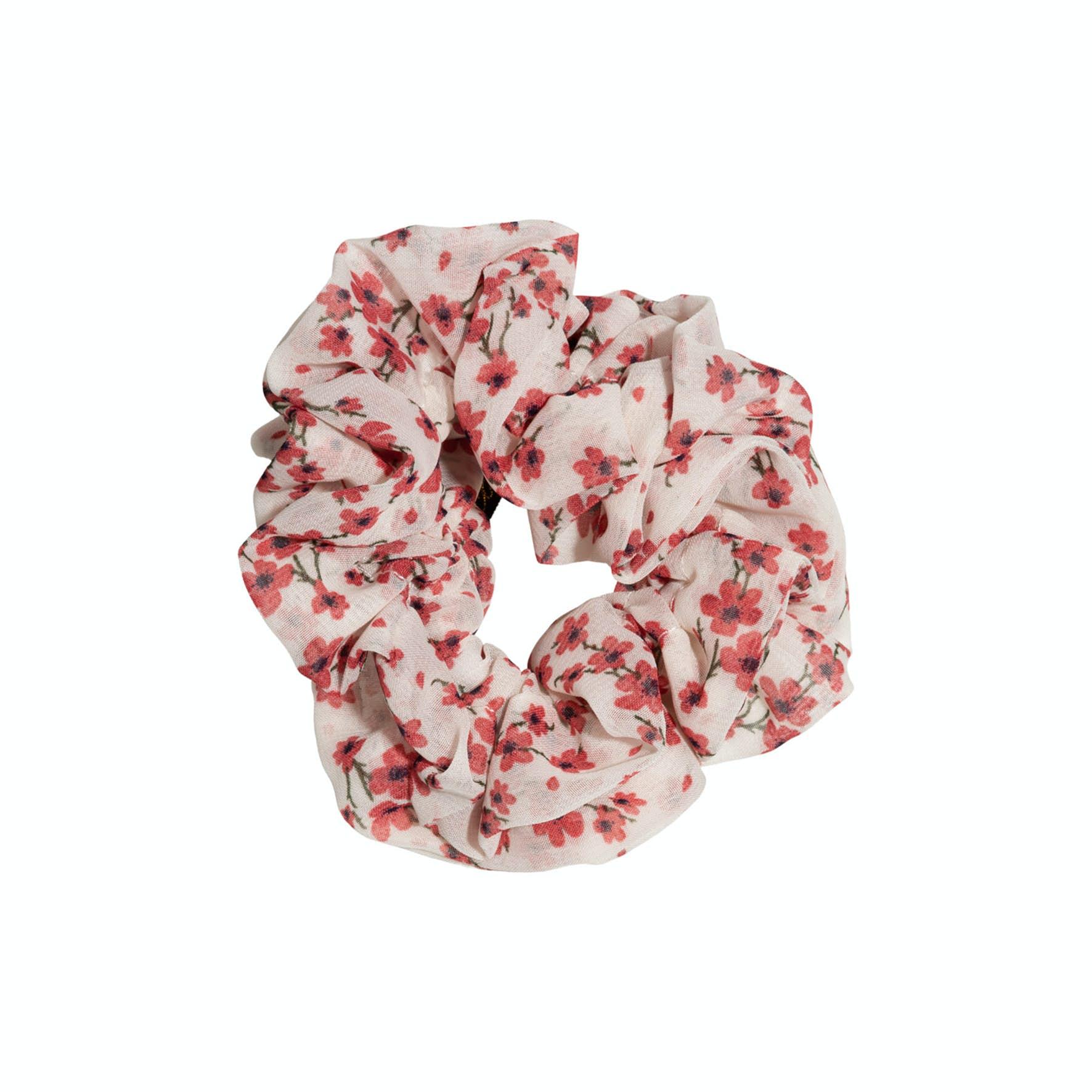 Flower Scrunchie Red