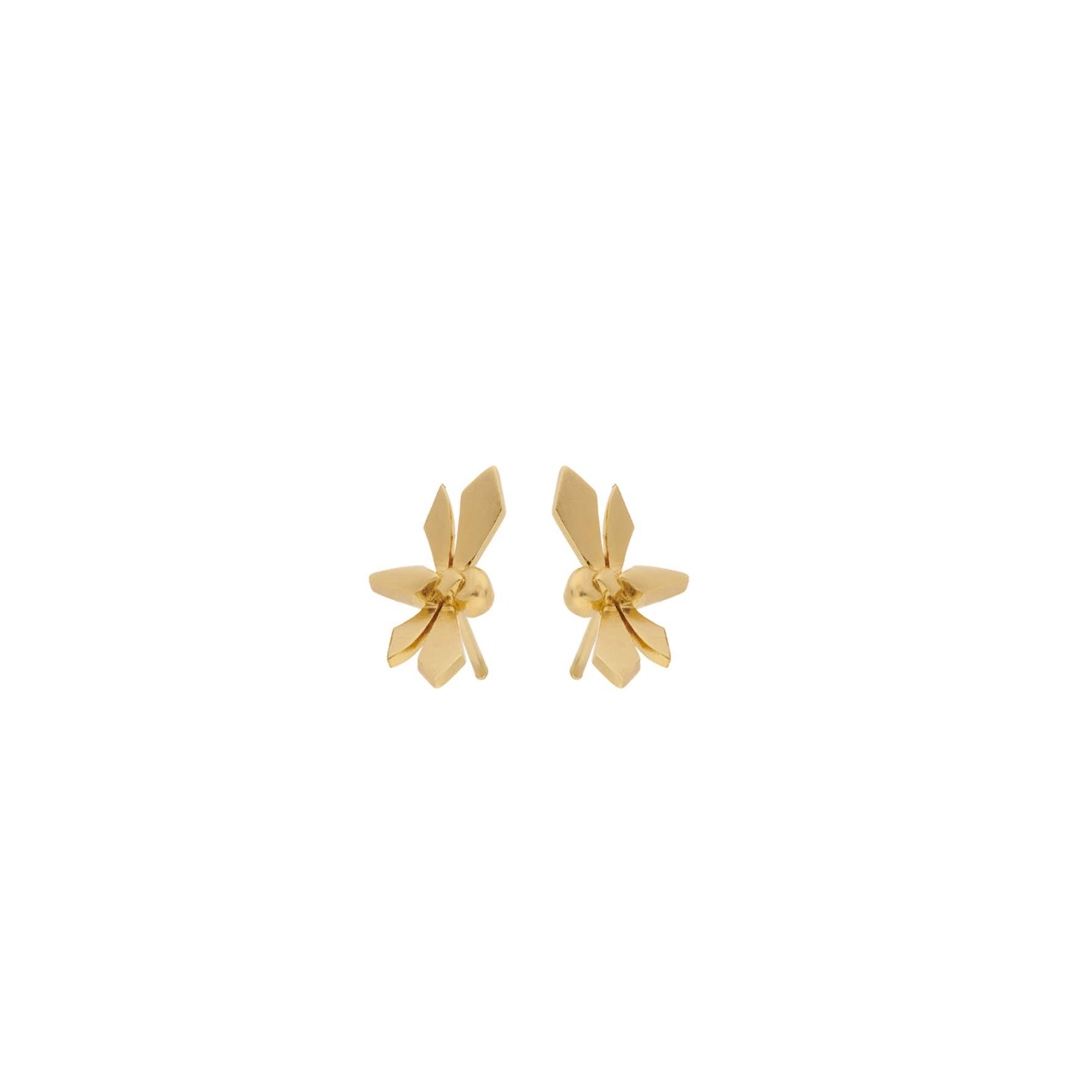 Hover Earsticks von Pernille Corydon in Vergoldet-Silber Sterling 925