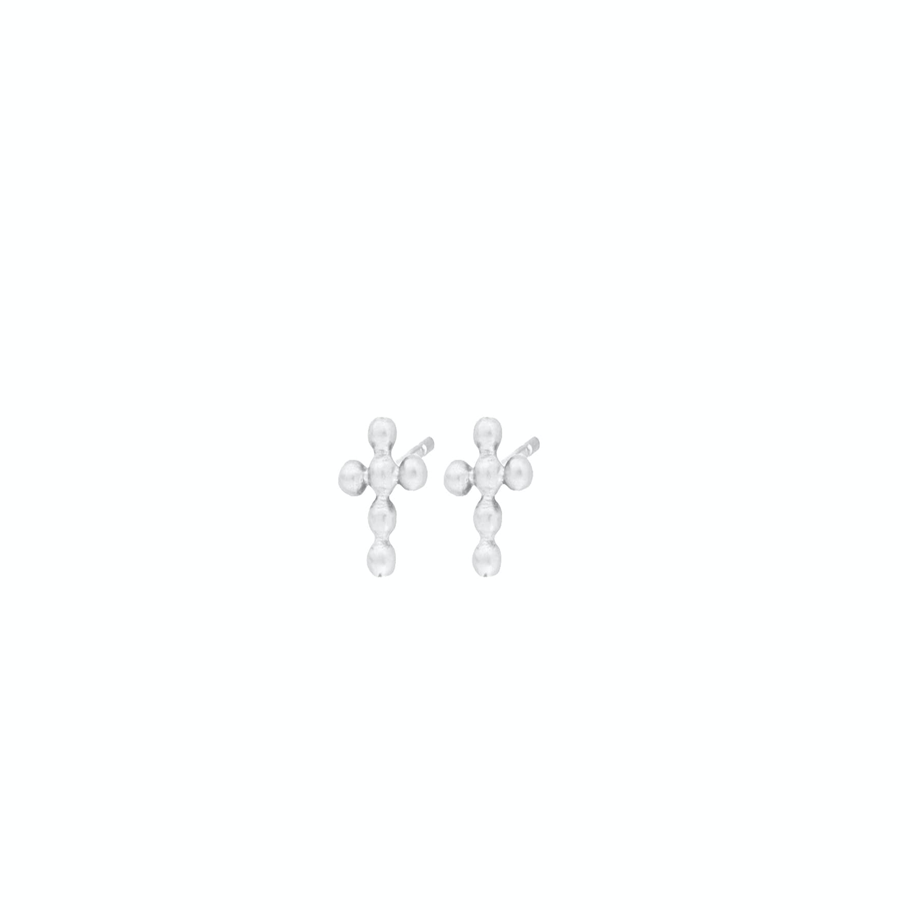 Cross Earsticks från Pernille Corydon i Silver Sterling 925