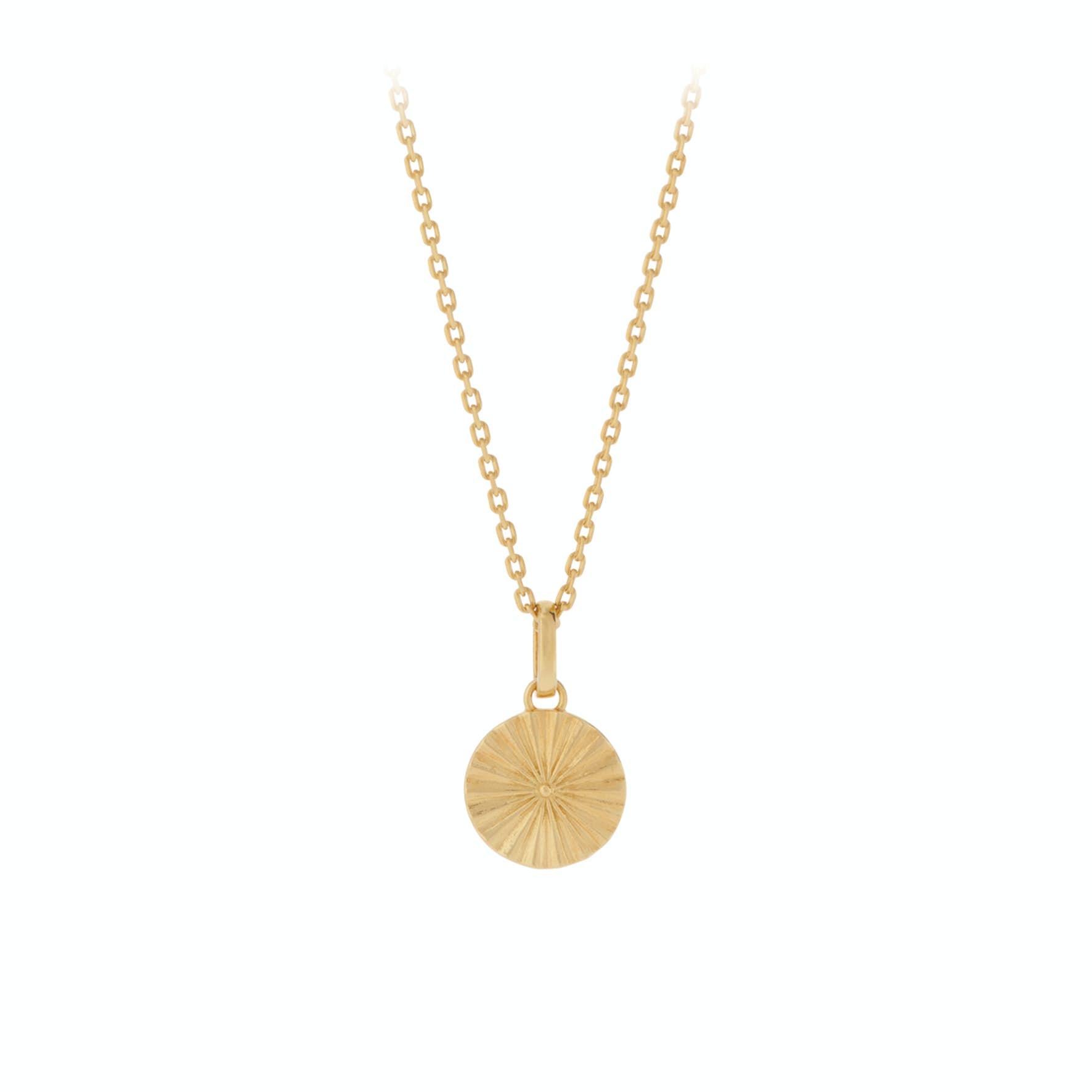 Sun Necklace von Pernille Corydon in Vergoldet-Silber Sterling 925|Blank