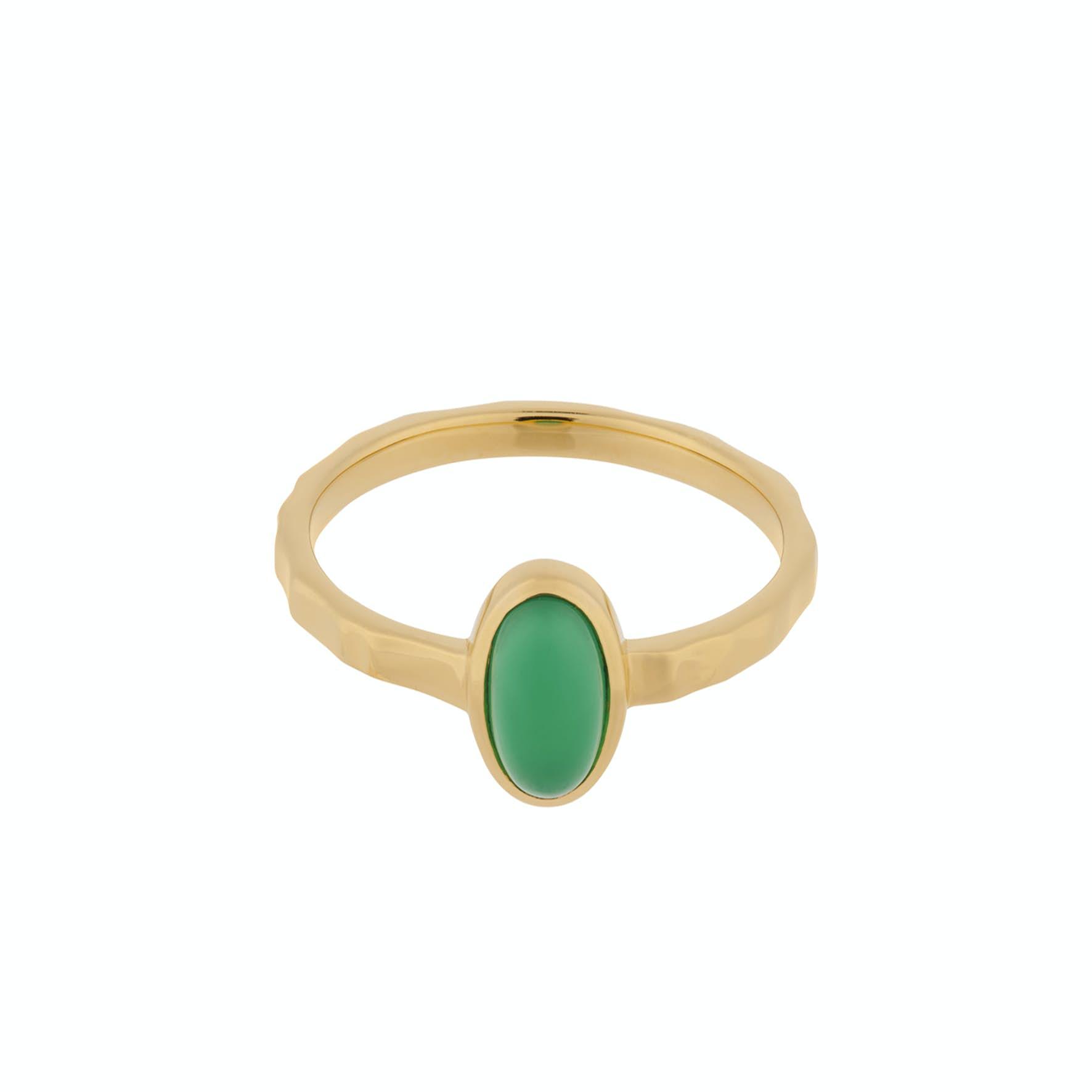 Shine Green Ring von Pernille Corydon in Vergoldet-Silber Sterling 925