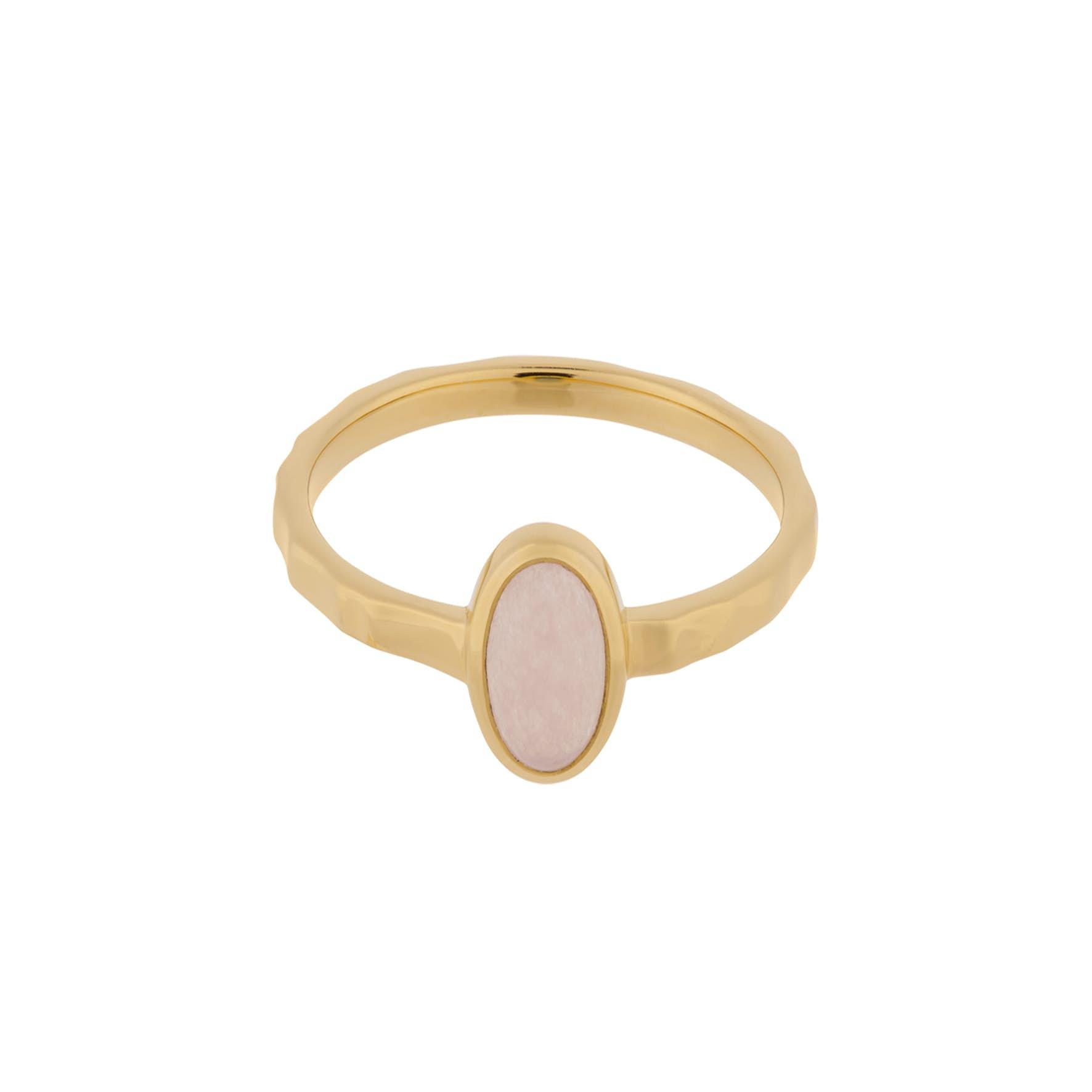 Shine Rose Ring von Pernille Corydon in Vergoldet-Silber Sterling 925