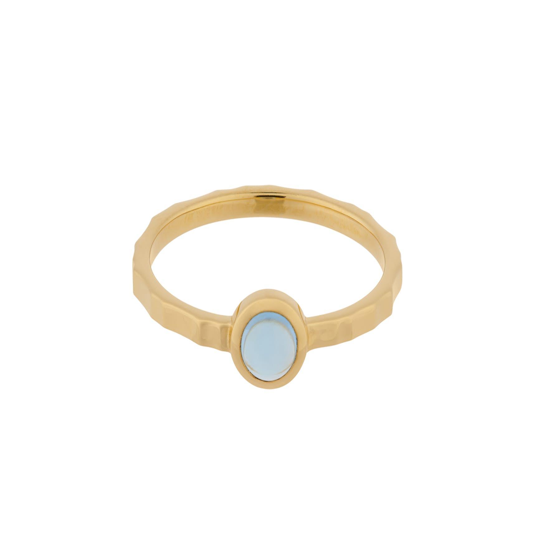 Shine Blue Ring von Pernille Corydon in Vergoldet-Silber Sterling 925