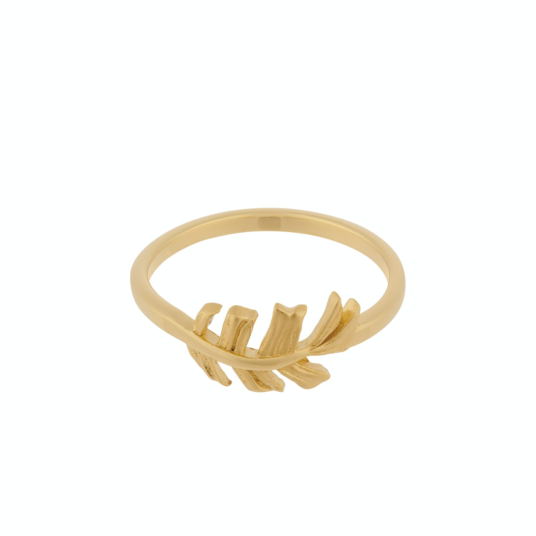 Leaf Ring from Pernille Corydon in Goldplated-Silver Sterling 925