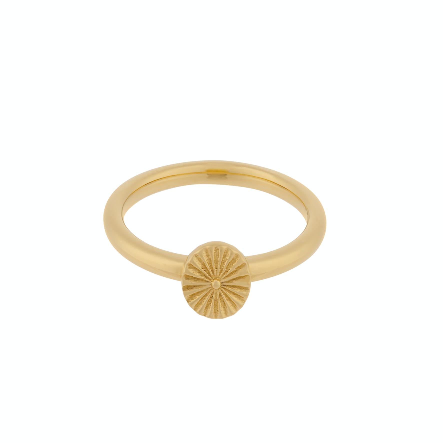 Small Sun Ring von Pernille Corydon in Vergoldet-Silber Sterling 925
