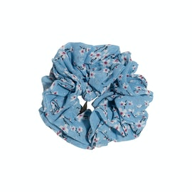 Flower Scrunchie Light Blue