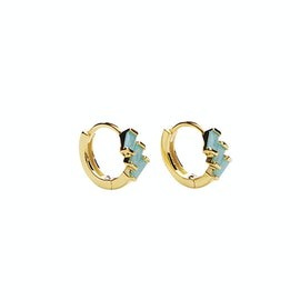 Mirach Crystal Green Hoops