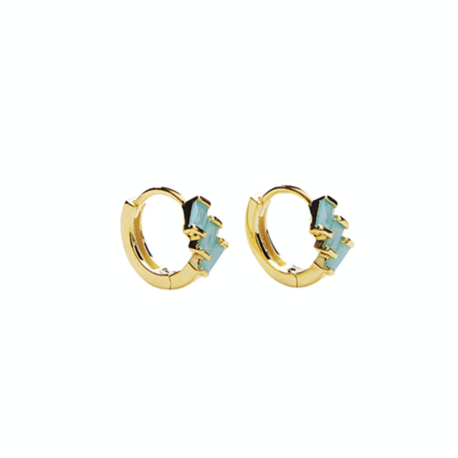Mirach Crystal Green Hoops från Pico i Förgyllt-Silver Sterling 925