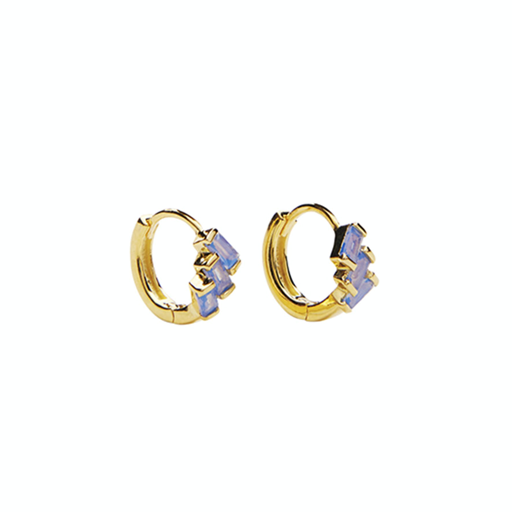 Mirach Crystal Blue Hoops fra Pico i Forgyldt-Sølv Sterling 925