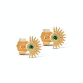 Petite Soleil Earsticks Green von Enamel Copenhagen in Vergoldet-Silber Sterling 925