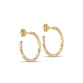 Diamond Cut Small Hoops