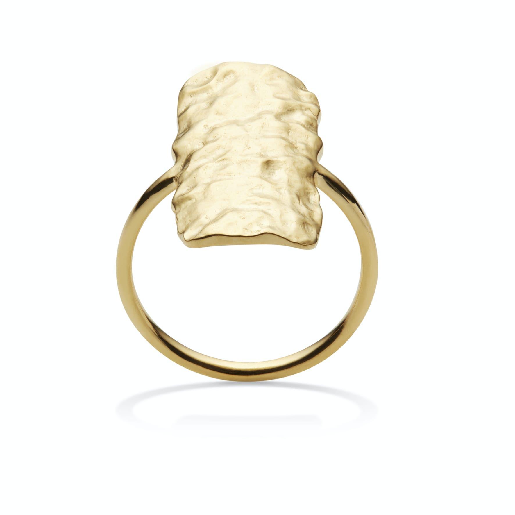 Cuesta ring fra Maanesten i Forgyldt-Sølv Sterling 925|Blank