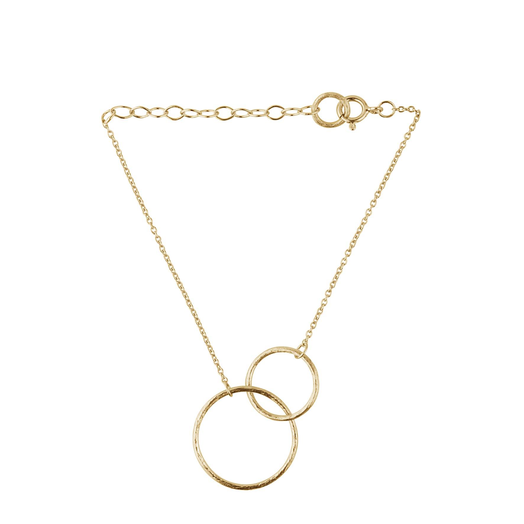 Double plain bracelet from Pernille Corydon in Goldplated-Silver Sterling 925| Matt,Blank