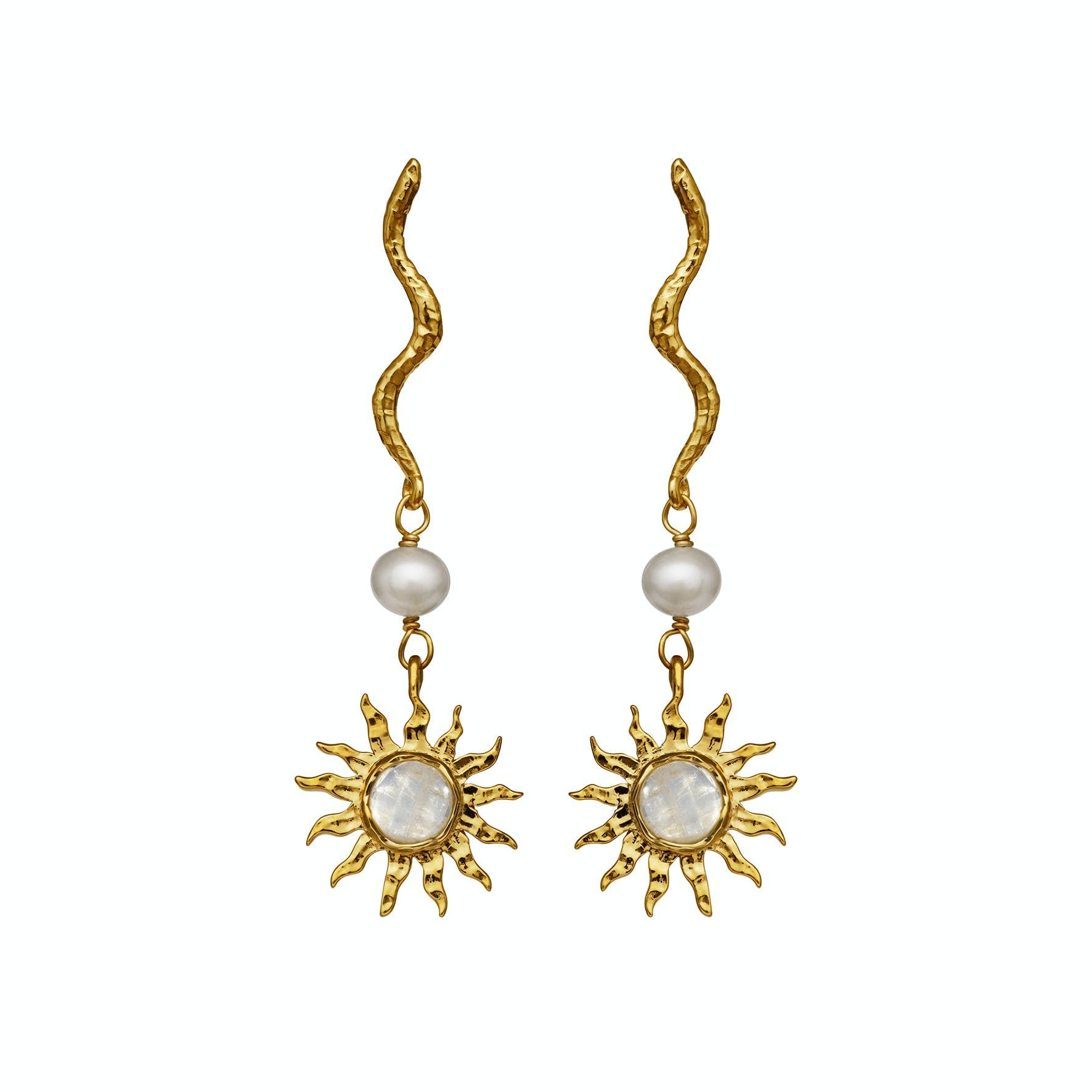 Dawn Earrings von Maanesten in Vergoldet-Silber Sterling 925