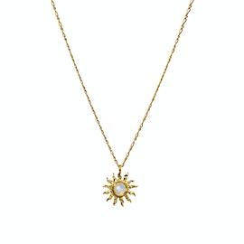 Dawn Necklace von Maanesten in Vergoldet-Silber Sterling 925| Gehämmert,Blank