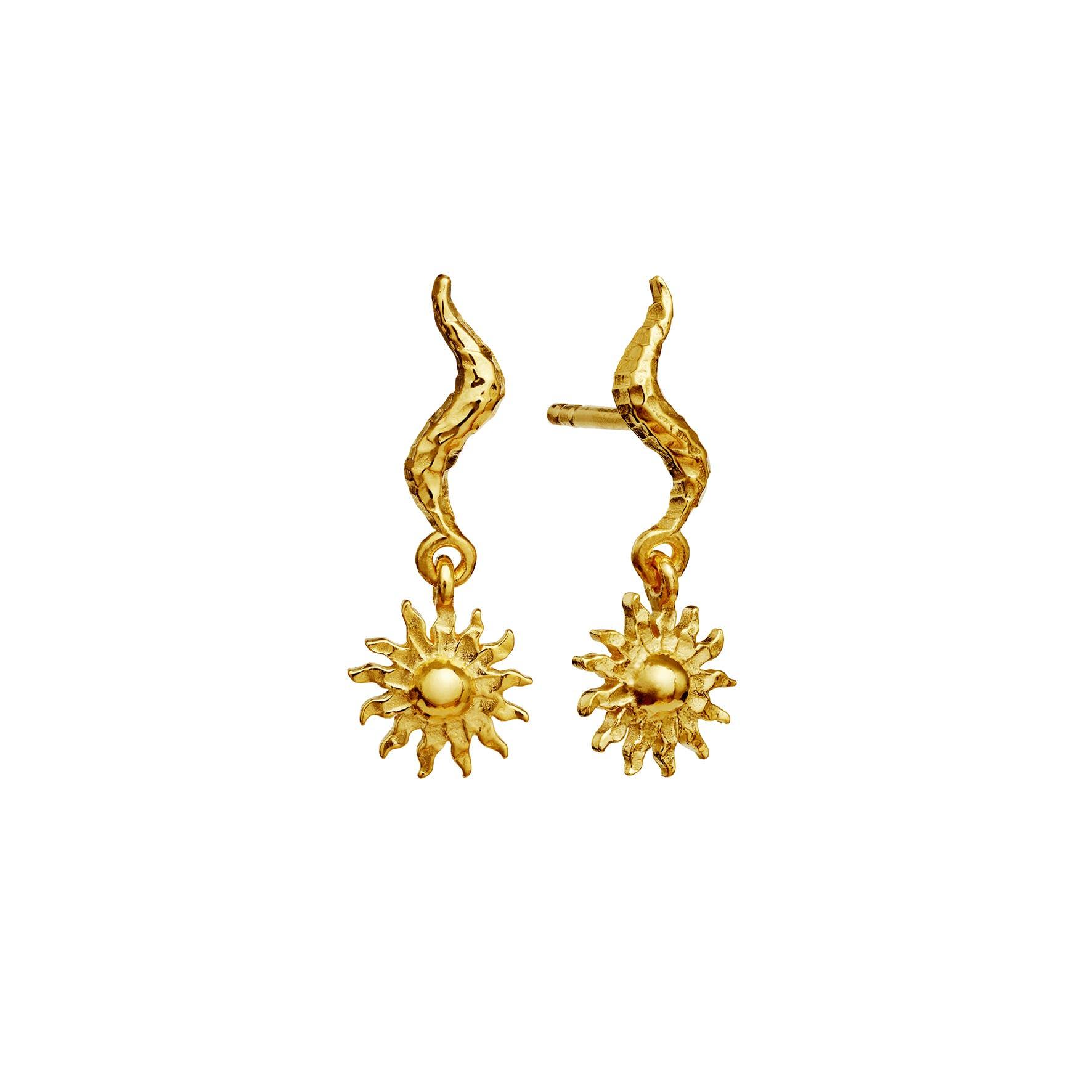 Lala Earrings från Maanesten i Förgyllt-Silver Sterling 925