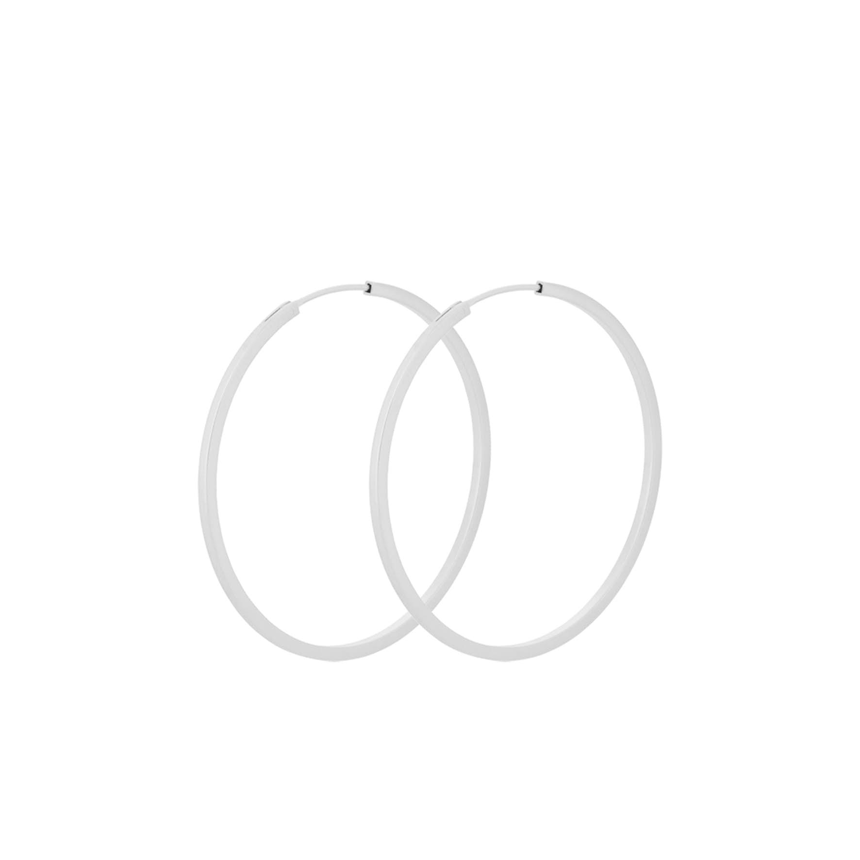 Small Orbit Hoops von Pernille Corydon in Silber Sterling 925