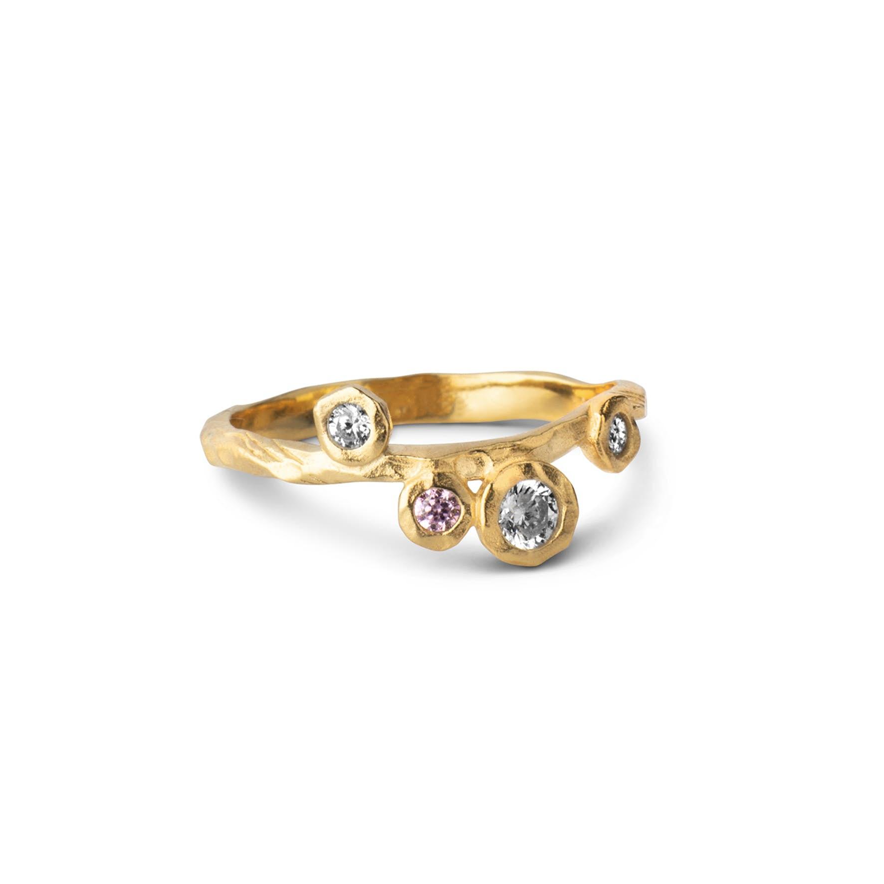 Rose Ring von Enamel Copenhagen in Vergoldet-Silber Sterling 925