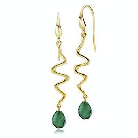 Saniya Earrings Green Onyx