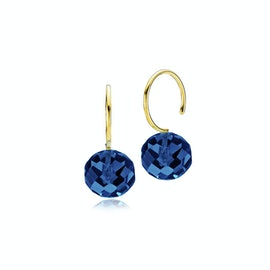 Marble Earrings Royal Blue Crystal Glass