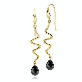 Saniya Earrings Black Onyx
