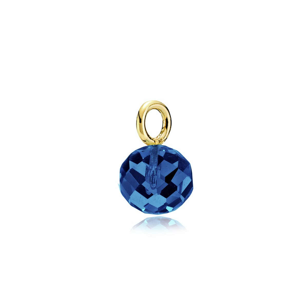 Marble Pendant Royalblue Crystal Glass from Izabel Camille in Goldplated-Silver Sterling 925