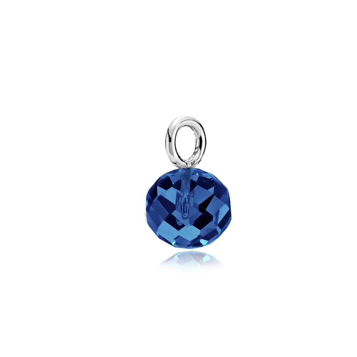 Marble Pendant Royalblue Crystal Glass från Izabel Camille i Silver Sterling 925