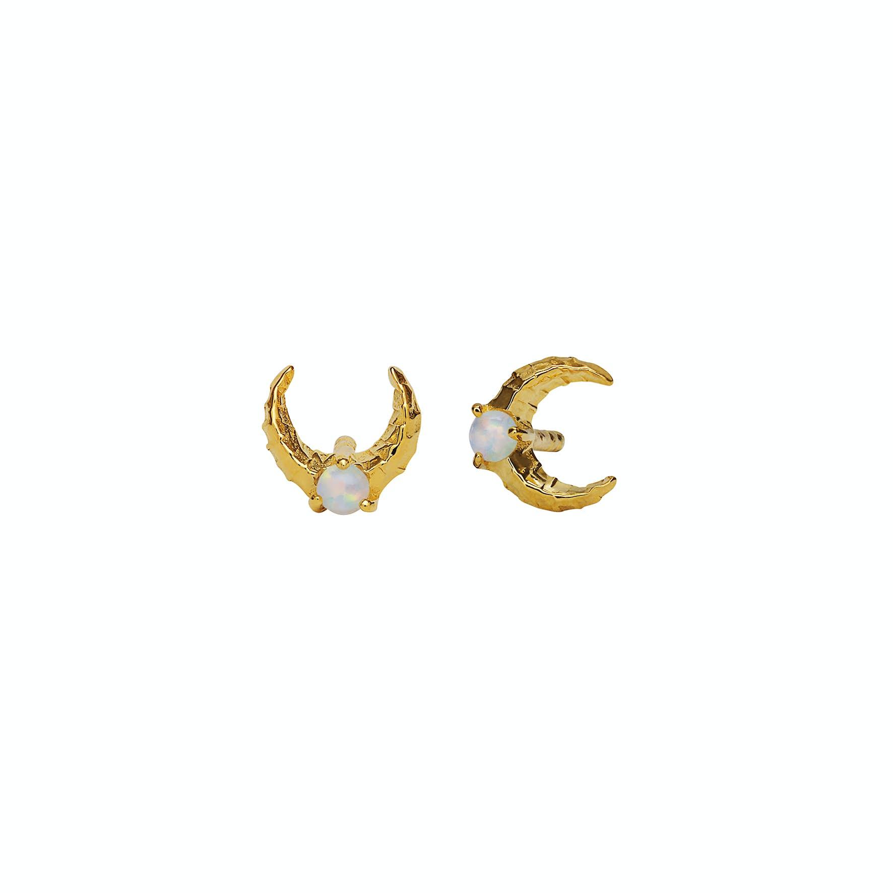 Nynette Earrings von Maanesten in Vergoldet-Silber Sterling 925