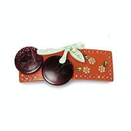 Cherry Hairclip Dark Red