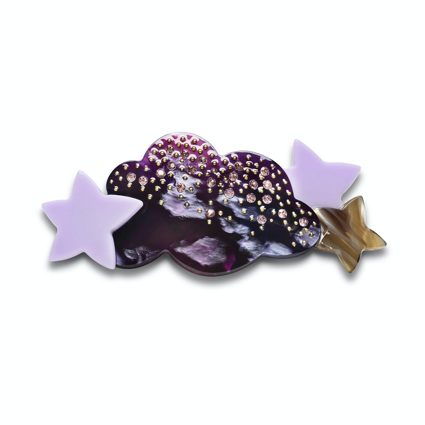 Shimmer Hairclip Purple von Maanesten in Acetat