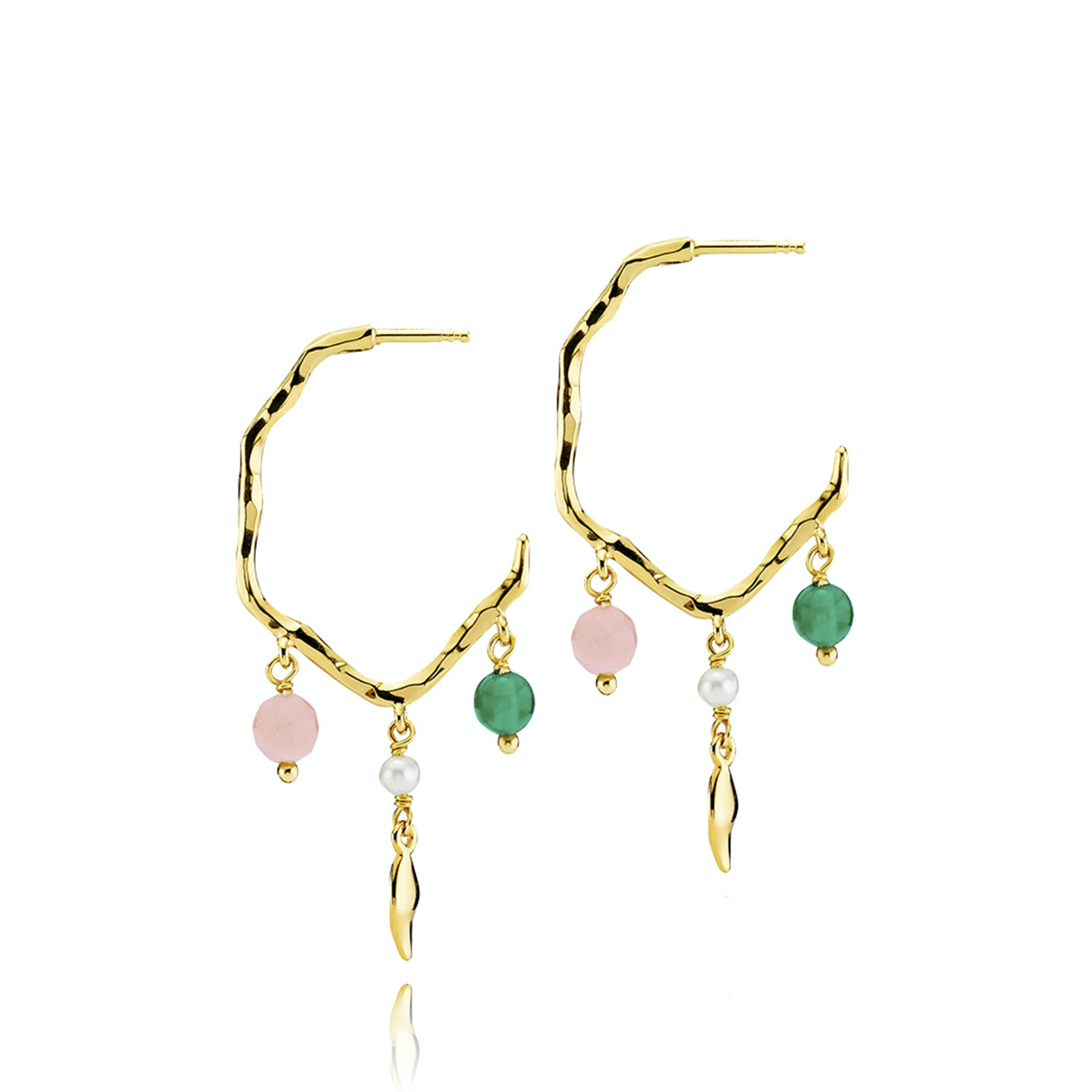 Mia by Sistie Pearl Creoles from Sistie in Goldplated-Silver Sterling 925