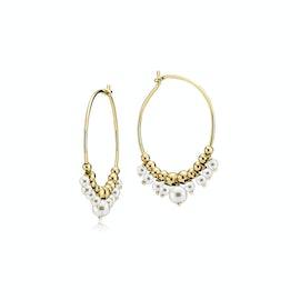 Globe Creol Earrings Freshwater Pearls