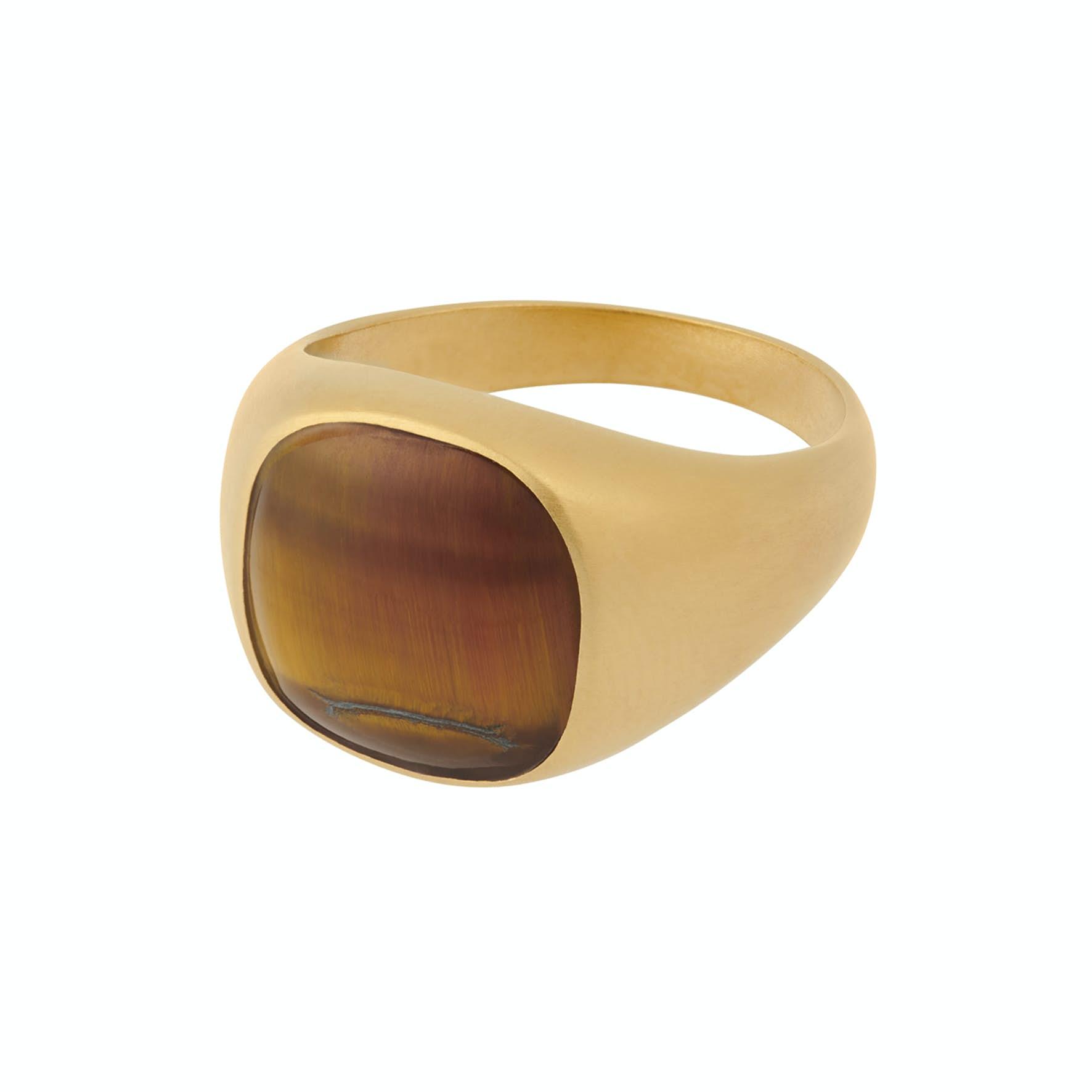 Tiger Eye Ring von Pernille Corydon in Vergoldet-Silber Sterling 925