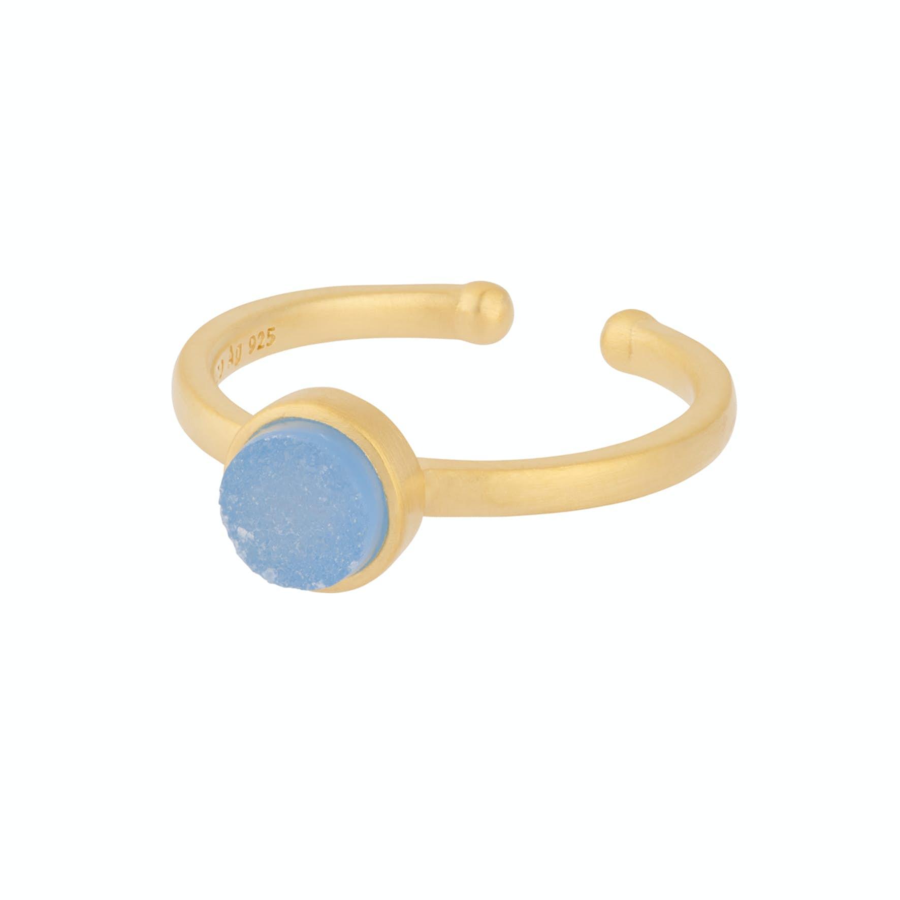 Small Shallow Ring von Pernille Corydon in Vergoldet-Silber Sterling 925