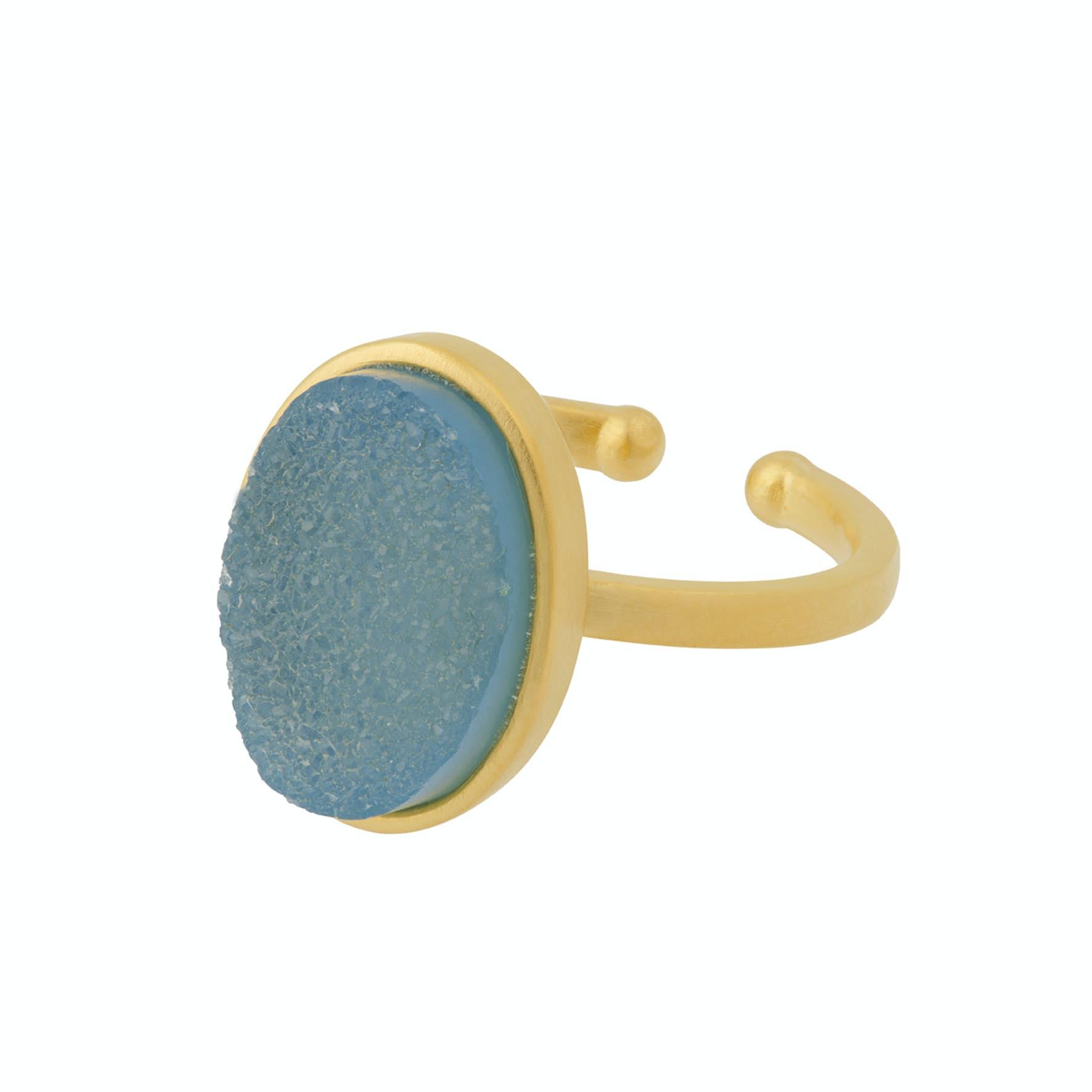Shallow Ring von Pernille Corydon in Vergoldet-Silber Sterling 925