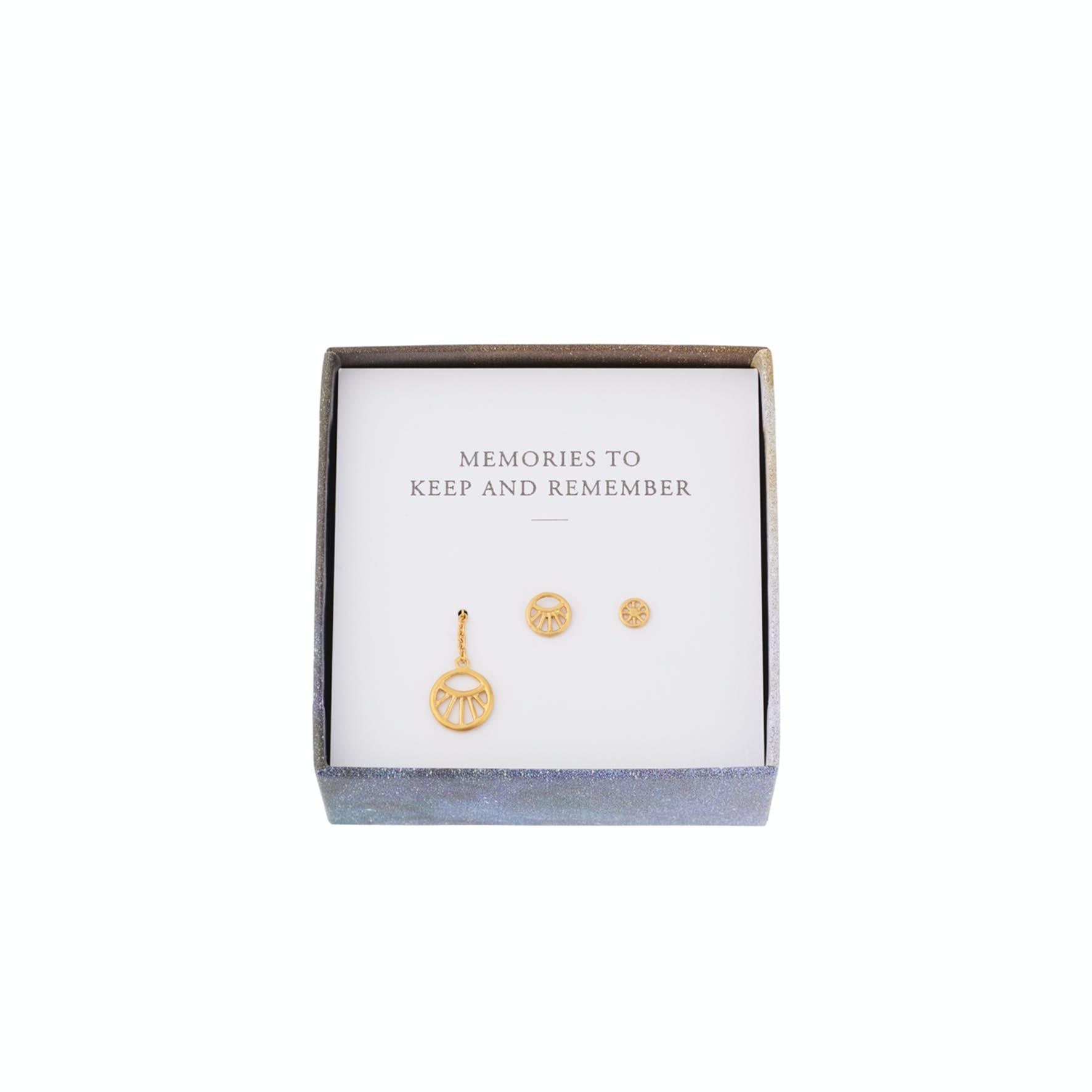Dream Earring Box von Pernille Corydon in Vergoldet-Silber Sterling 925