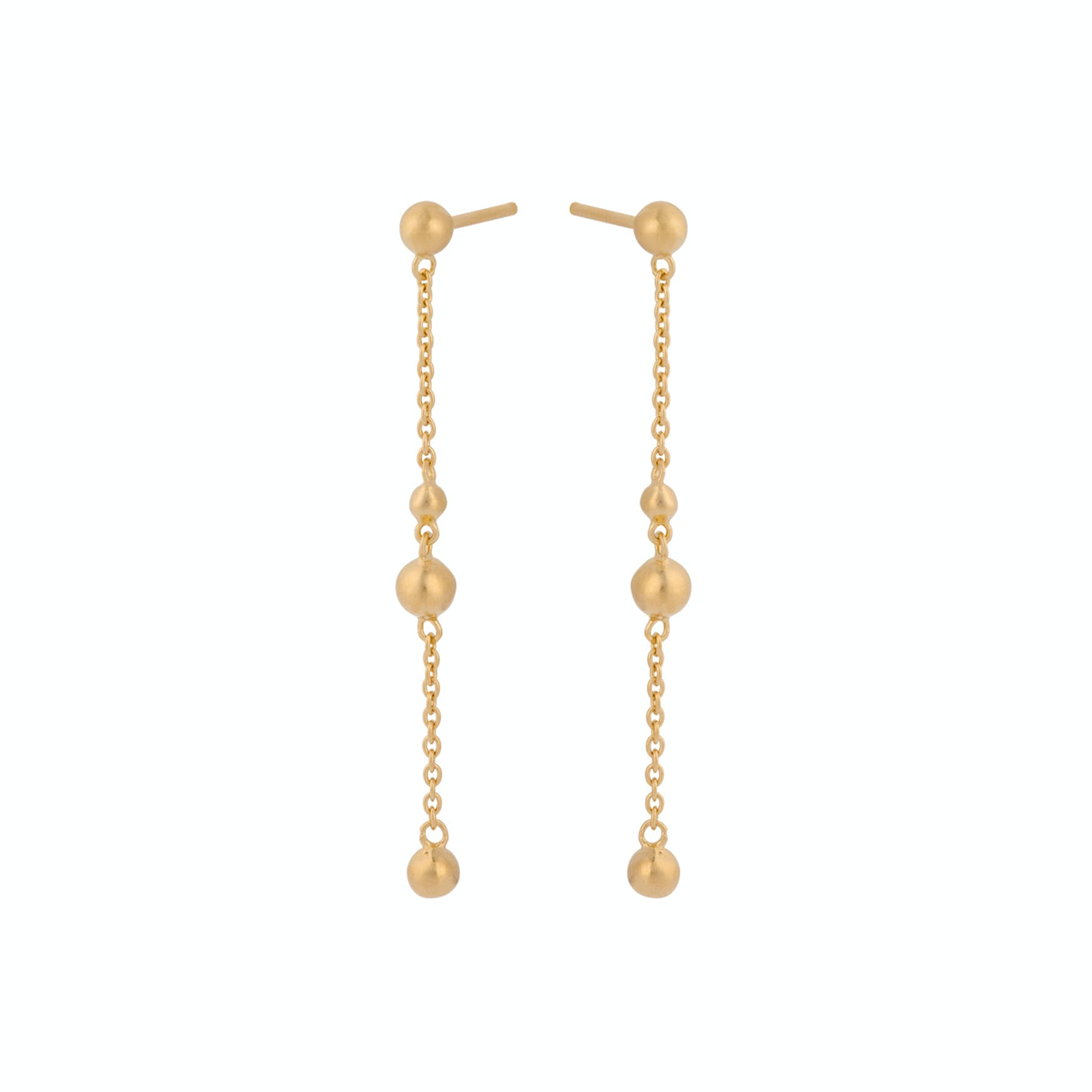 Comet Earchains from Pernille Corydon in Goldplated-Silver Sterling 925