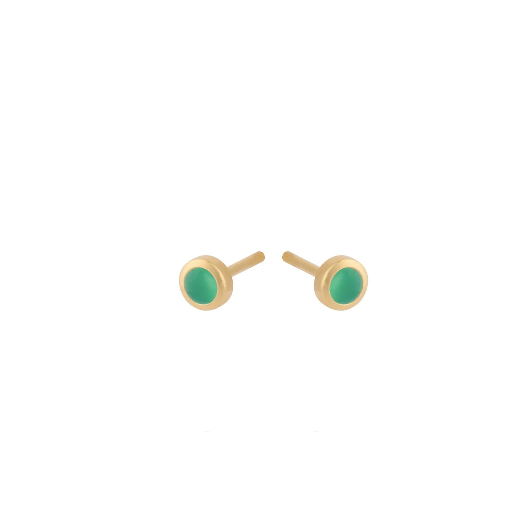 Shine Green Earsticks von Pernille Corydon in Vergoldet-Silber Sterling 925