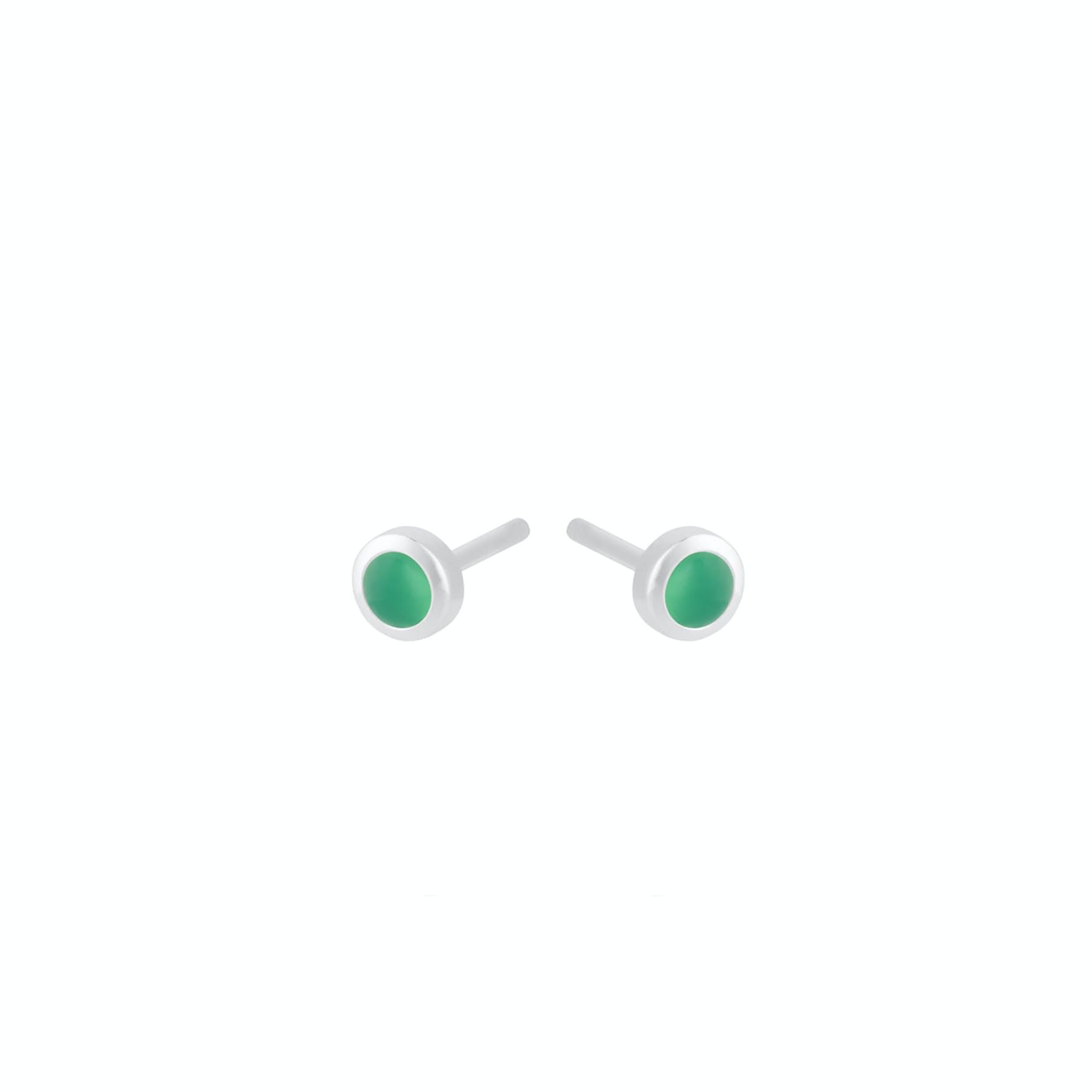 Shine Green Earsticks von Pernille Corydon in Silber Sterling 925