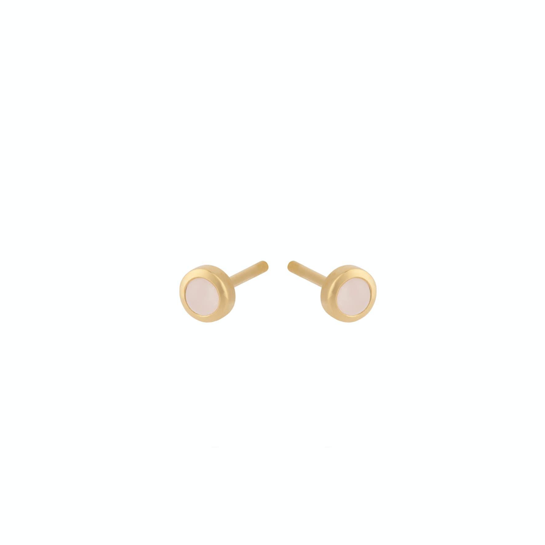 Shine Rose Earsticks von Pernille Corydon in Vergoldet-Silber Sterling 925