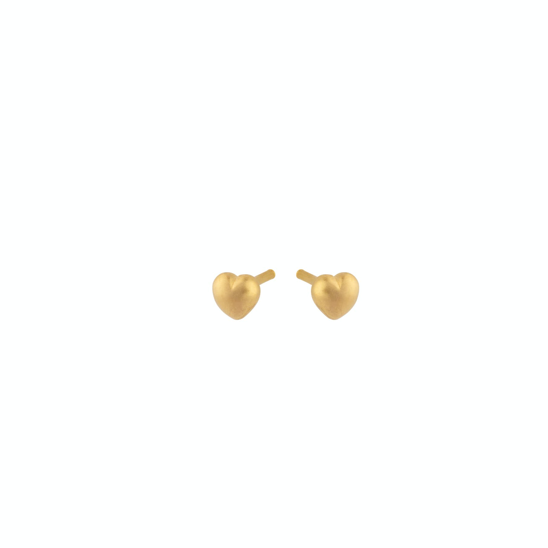 Heart Earsticks from Pernille Corydon in Goldplated-Silver Sterling 925