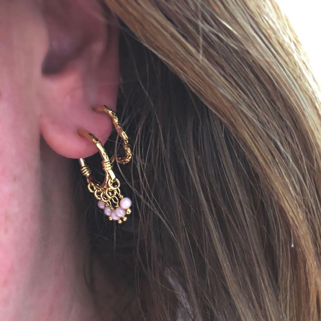 Carin earrings von Maanesten in Vergoldet-Silber Sterling 925