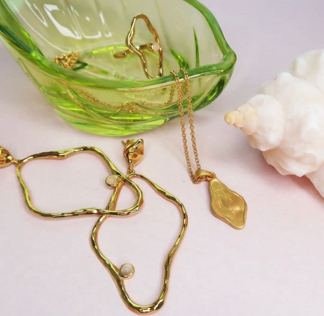Melissa Bentsen Earrings von Sistie in Vergoldet-Silber Sterling 925