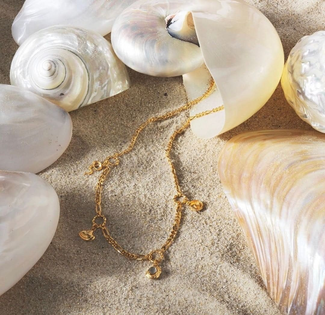 Georgia necklace fra Maanesten i Forgylt-Sølv Sterling 925|Blank