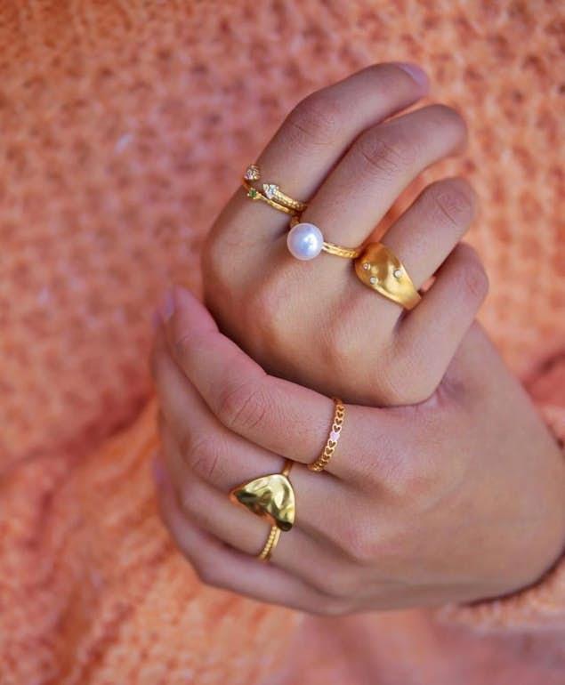 Lovely ring fra Enamel Copenhagen i Forgylt-Sølv Sterling 925