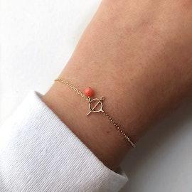 Oppe bracelet fra A-Hjort i Forgyldt-Sølv Sterling 925|Blank