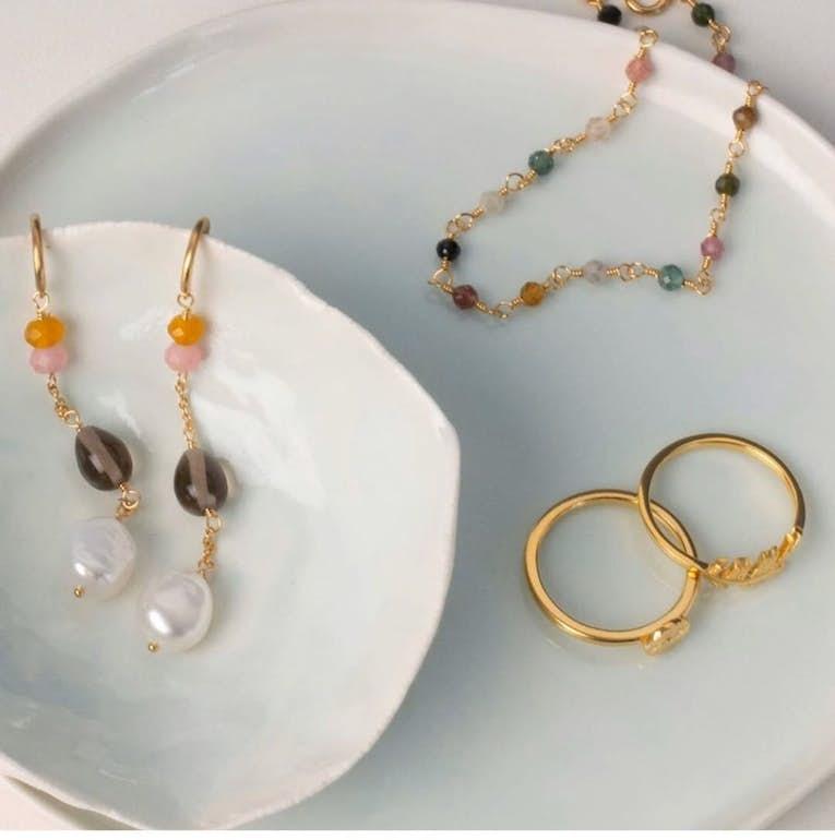 Lagoon Shade Earrings från Pernille Corydon i Silver Sterling 925