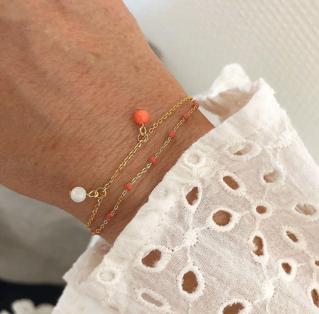 Alma Gemstone bracelet from A-Hjort in Silver Sterling 925|Blank