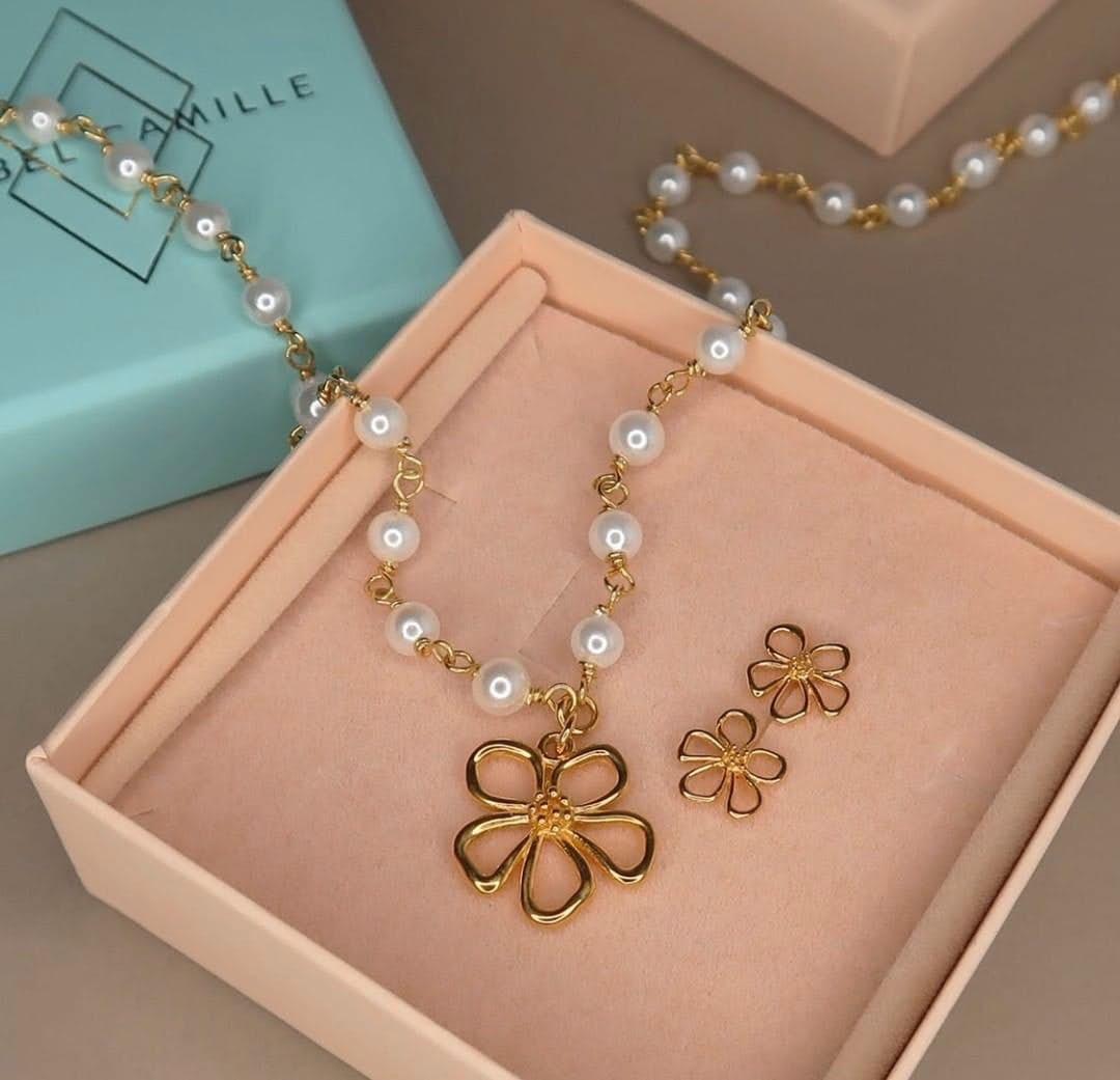 Honey Necklace fra Izabel Camille i Forgylt-Sølv Sterling 925